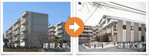 建替え前→建替え後