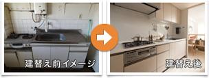 建替え前イメージ→建替え後